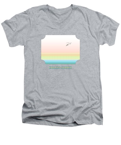 Endless Summer - Pink Men's V-Neck T-Shirt