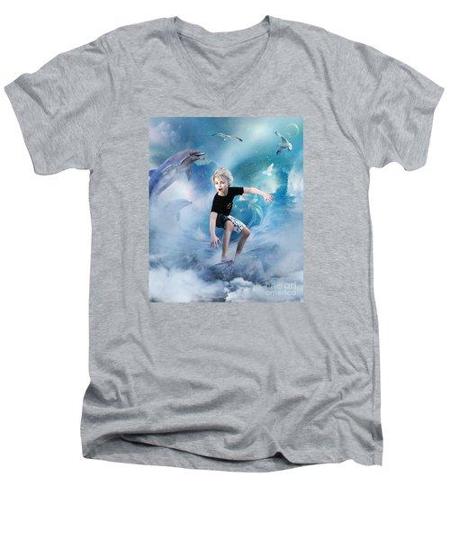 Endless Wave Men's V-Neck T-Shirt