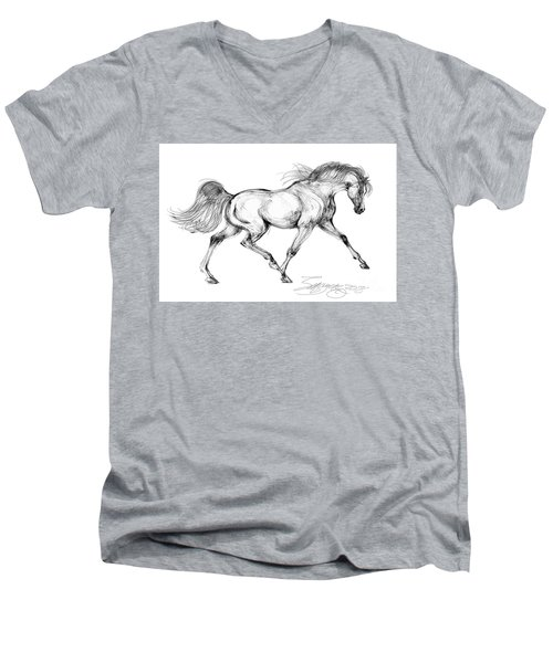 Endurance Horse Men's V-Neck T-Shirt