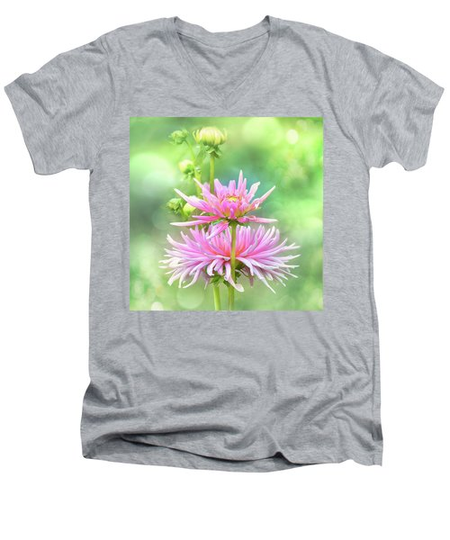 Men's V-Neck T-Shirt featuring the photograph Enduring Grace by John Poon
