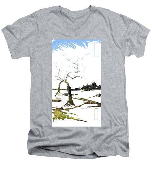 Energy . Tree Men's V-Neck T-Shirt