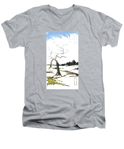 Energy . Tree Men's V-Neck T-Shirt
