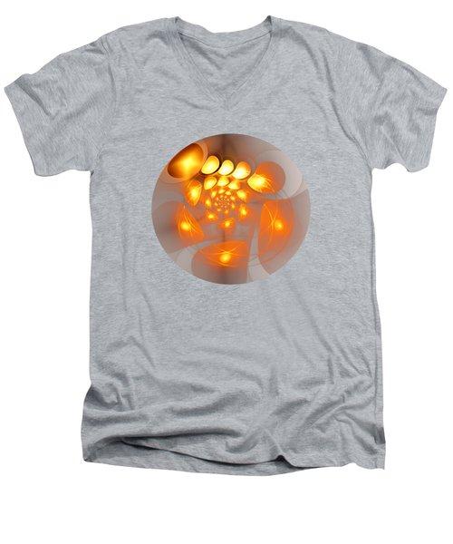 Men's V-Neck T-Shirt featuring the digital art Energy Source by Anastasiya Malakhova