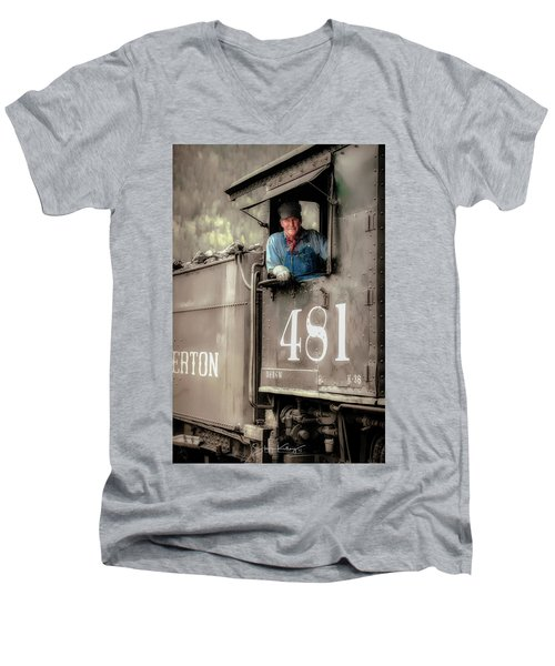 Engineer 481 Men's V-Neck T-Shirt
