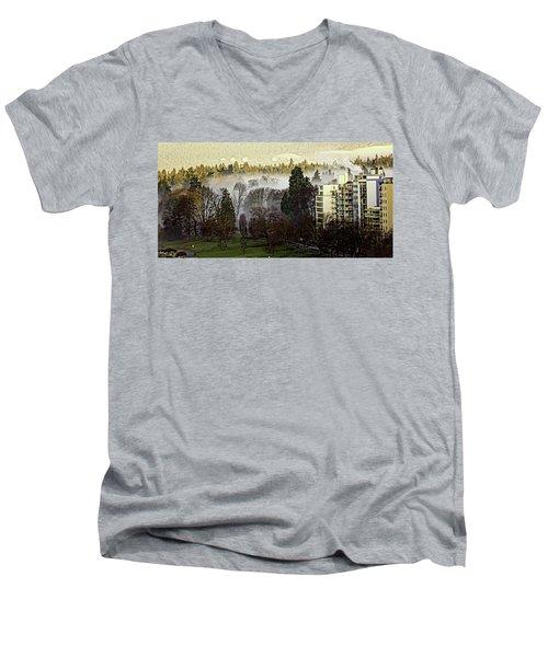 English Bay Fog #2 Men's V-Neck T-Shirt