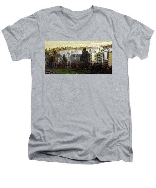 English Bay Fog Men's V-Neck T-Shirt