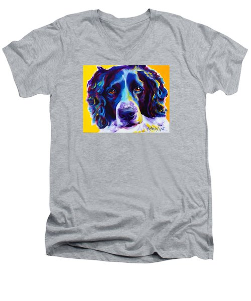 English Springer Spaniel - Emma Men's V-Neck T-Shirt