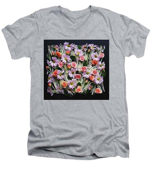 Enoki Mushroom Textures Men's V-Neck T-Shirt