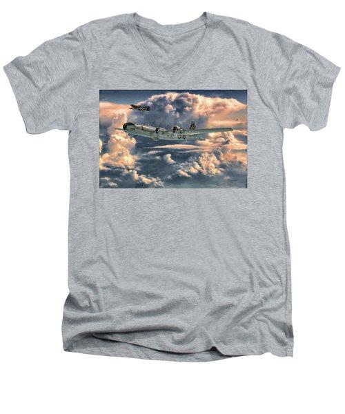 Enola Gay Men's V-Neck T-Shirt by Dave Luebbert