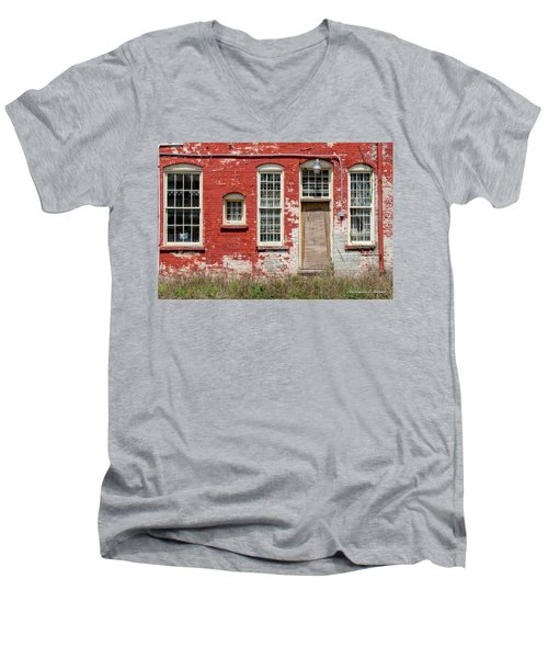 Men's V-Neck T-Shirt featuring the photograph Enough Windows by Christopher Holmes