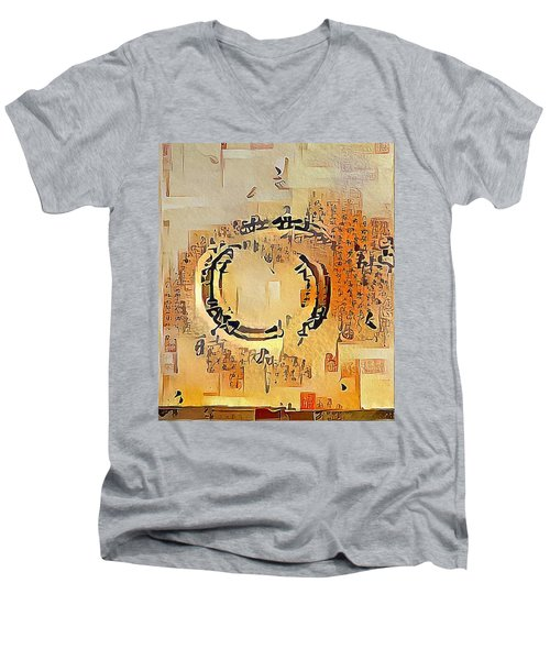 Enso Calligraphy  Men's V-Neck T-Shirt