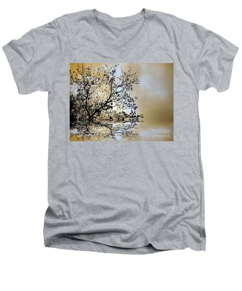 Entangled Men's V-Neck T-Shirt by Elfriede Fulda