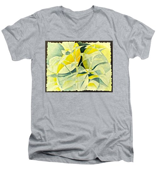 Men's V-Neck T-Shirt featuring the painting Entering A New Realm by Carolyn Rosenberger