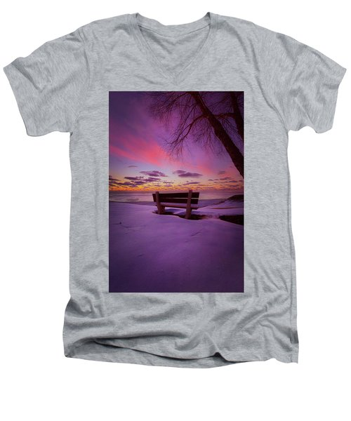 Men's V-Neck T-Shirt featuring the photograph Enters The Unguarded Heart by Phil Koch