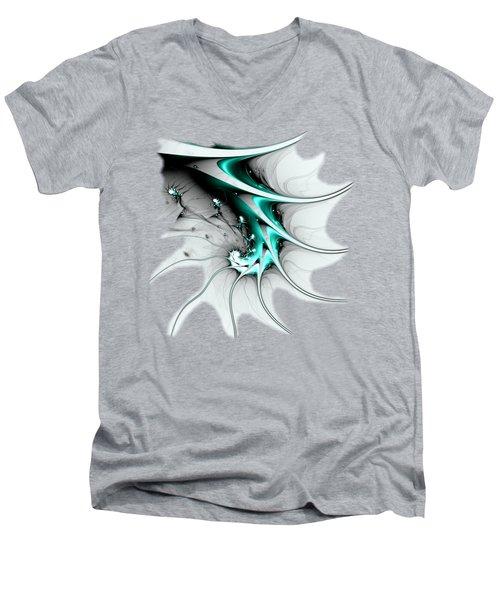 Men's V-Neck T-Shirt featuring the digital art Entity by Anastasiya Malakhova