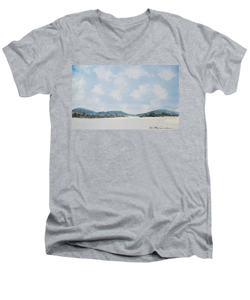 Entrance To Moulters Lagoon From Bathurst Harbour Men's V-Neck T-Shirt