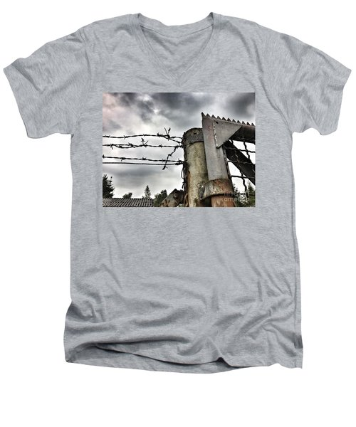 Entrance To The Old Ammunition Depot Of The Belgian Army Men's V-Neck T-Shirt