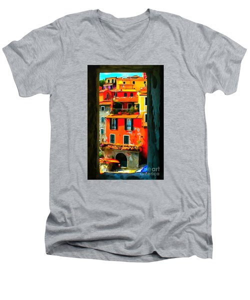 Entry Way Painting Men's V-Neck T-Shirt by Catherine Lott