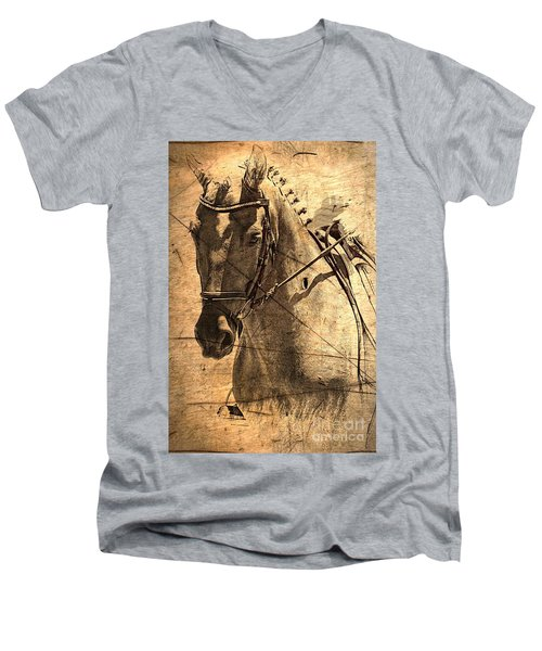 Equestrian Men's V-Neck T-Shirt