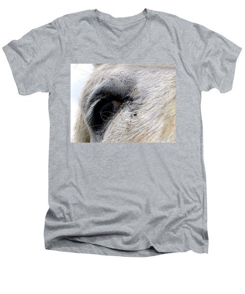 Men's V-Neck T-Shirt featuring the photograph Equine Eye by Chris Mercer