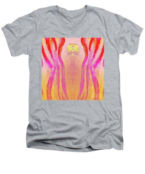 Equipoise Men's V-Neck T-Shirt by Rachel Hannah