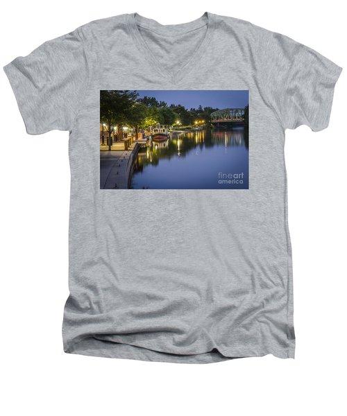 Erie Canal Shoreline Men's V-Neck T-Shirt