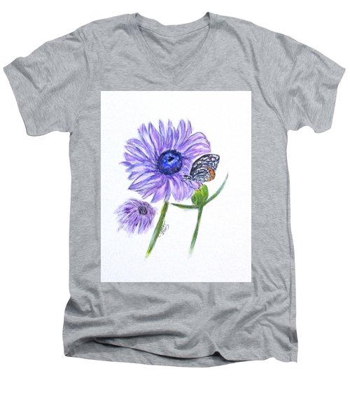 Erika's Butterfly Three Men's V-Neck T-Shirt by Clyde J Kell