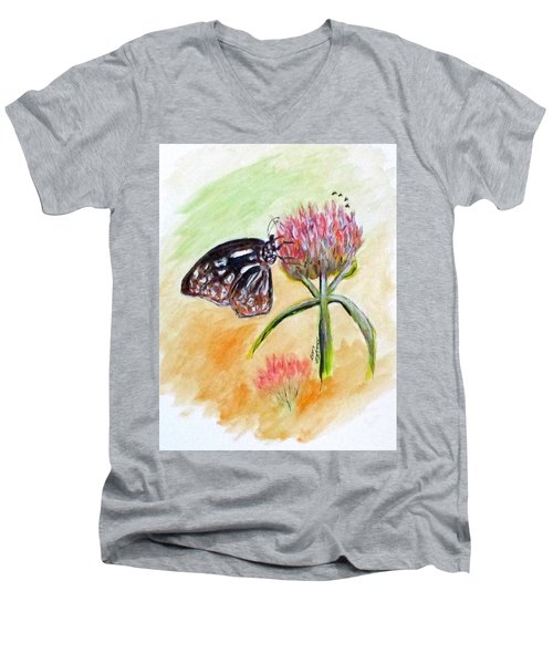 Erika's Butterfly Two Men's V-Neck T-Shirt by Clyde J Kell