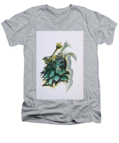 Erika's Spring Plant Men's V-Neck T-Shirt by Clyde J Kell