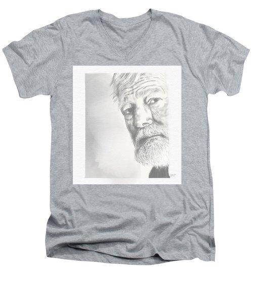 Ernest Hemingway Men's V-Neck T-Shirt