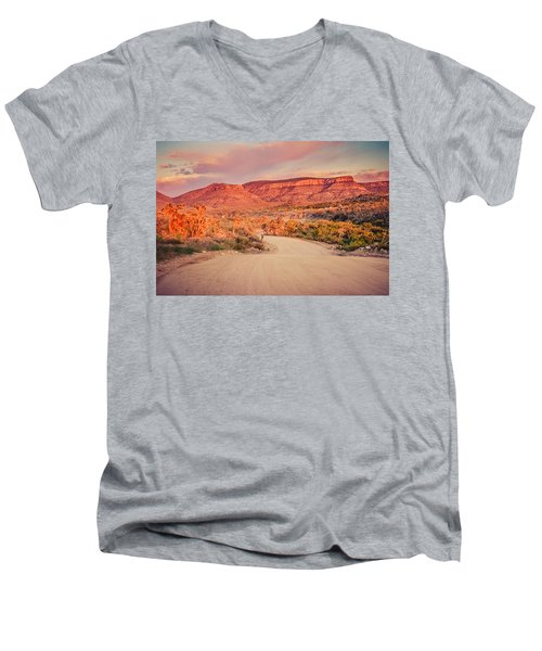 Eruptions On The Sun Men's V-Neck T-Shirt