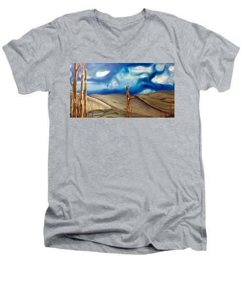 Escape Men's V-Neck T-Shirt by Pat Purdy