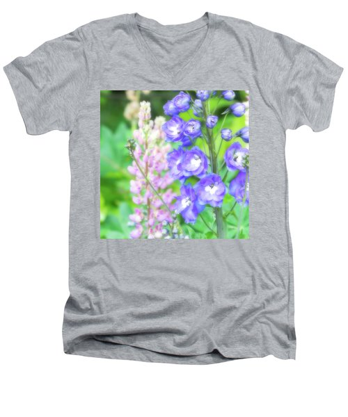 Men's V-Neck T-Shirt featuring the photograph Escape To The Garden by Bonnie Bruno