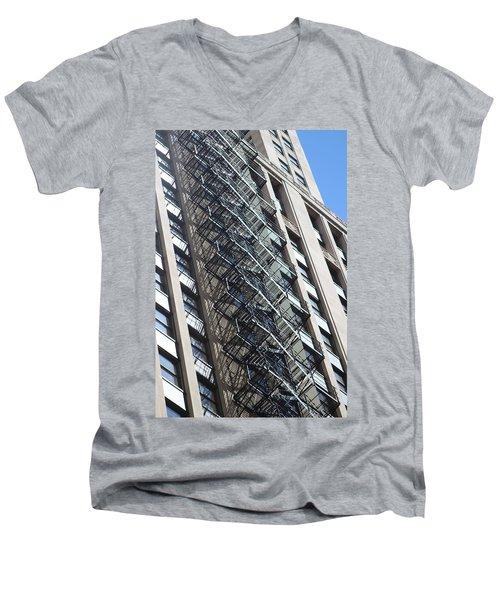 Escaping A Chicago Brownstone Men's V-Neck T-Shirt