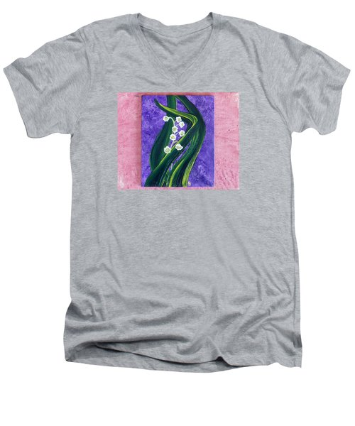 Escaping Winter Lilly Of The Valley Men's V-Neck T-Shirt