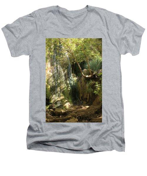Escondido Falls In May Men's V-Neck T-Shirt
