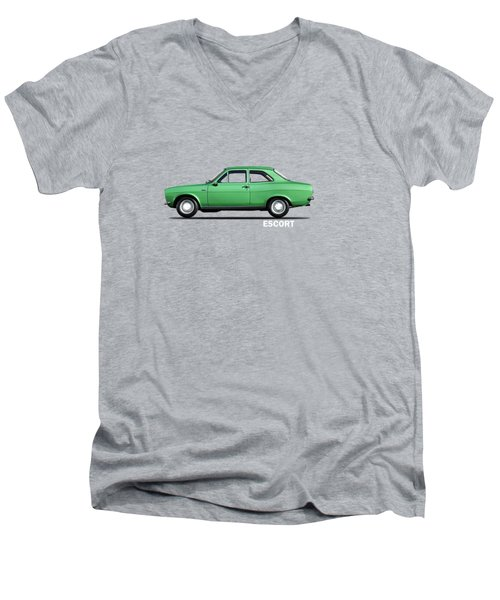 Escort Mark 1 1968 Men's V-Neck T-Shirt by Mark Rogan