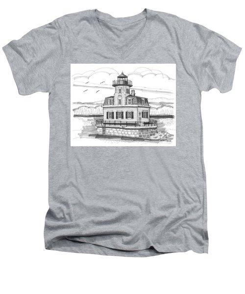 Esopus Meadows Lighthouse Men's V-Neck T-Shirt