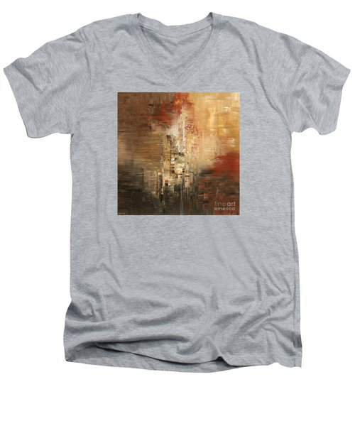 Men's V-Neck T-Shirt featuring the painting Essential Connection by Tatiana Iliina