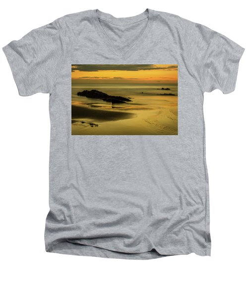 Men's V-Neck T-Shirt featuring the photograph Essentially Tranquil by Nick Bywater