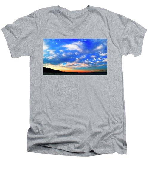 Estuary Skyscape Men's V-Neck T-Shirt