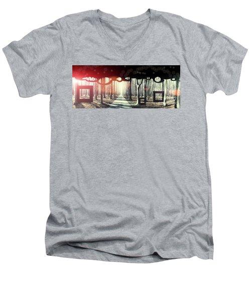 Eternity, Conceptual Background Men's V-Neck T-Shirt