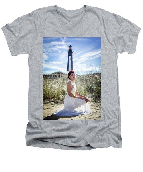 Ethereal Gaze Men's V-Neck T-Shirt
