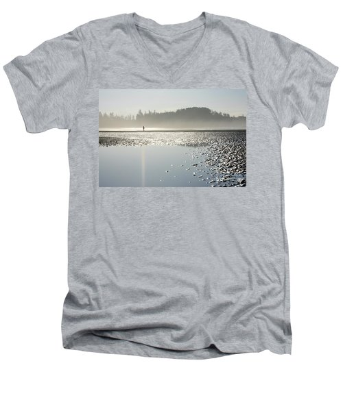 Ethereal Reflection Men's V-Neck T-Shirt