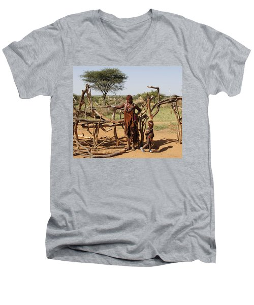 Ethiopia-south Mother And Baby No.2 Men's V-Neck T-Shirt