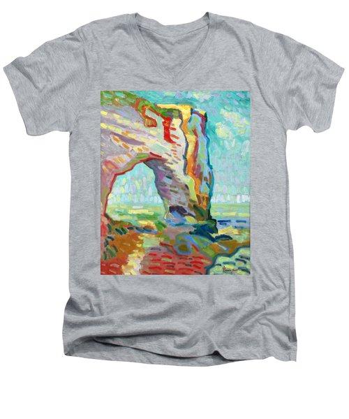 Etretat  Men's V-Neck T-Shirt