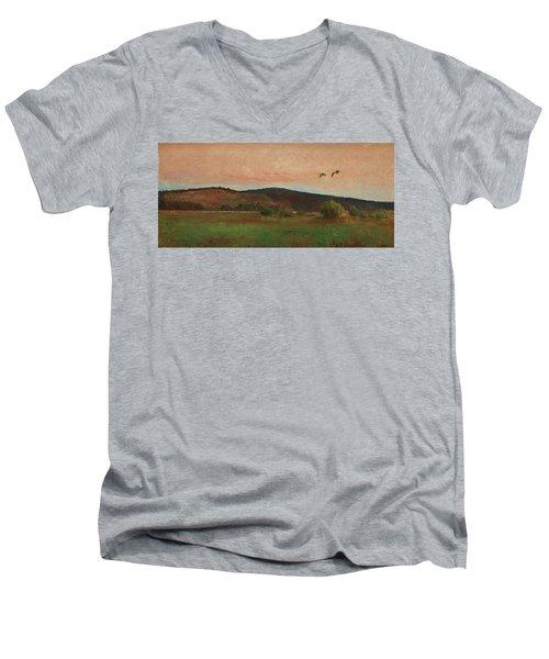 Eurasian Woodcocks Men's V-Neck T-Shirt