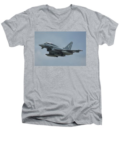 Eurofighter Ef2000 Men's V-Neck T-Shirt by Tim Beach