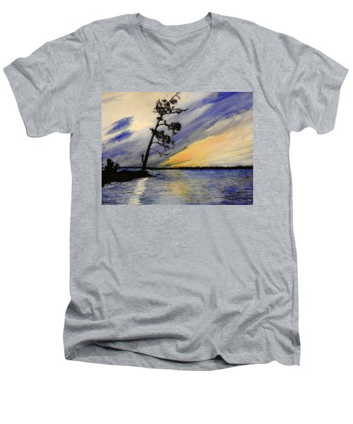 Evening At Petrie Island Men's V-Neck T-Shirt by Betty-Anne McDonald