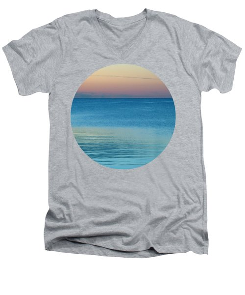 Evening At The Lake Men's V-Neck T-Shirt
